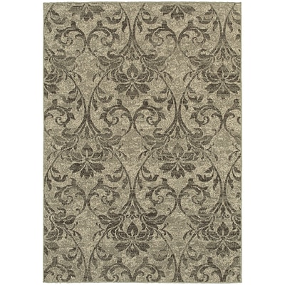 StyleHaven Distressed Botanical Polypropylene 67X96 Grey/Ivory Area Rug (WHIG6609C6X9L)