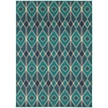 StyleHaven Diamonds Polypropylene 67 X 96 Blue/Teal Area Rug