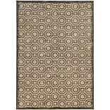 StyleHaven Casual Geometric Nylon 67 X 96 Charcoal/Grey Area Rug