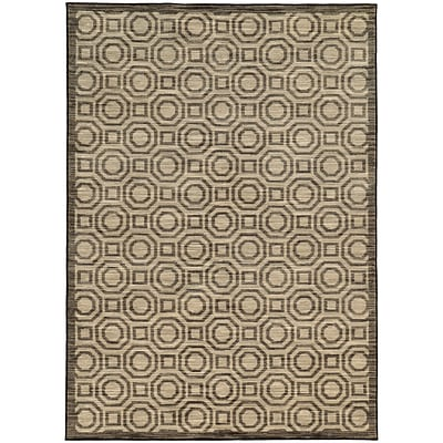 StyleHaven Casual Geometric Nylon 67 X 96 Charcoal/Grey Area Rug (WHRP462286X9L)