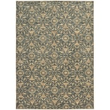 StyleHaven Casual Floral Nylon 710 X 1010 Beige/Blue Area Rug
