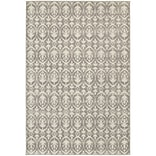 StyleHaven Distressed Leaf Pattern Polypropylene 710X1010 Grey/Ivory Area Rug (WHTN194E58X11L)