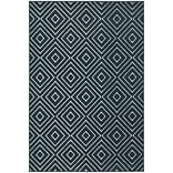 StyleHaven Transitional Diamond Polypropylene 67 X 96 Navy/Ivory Area Rug (WHTN2332B6X9L)
