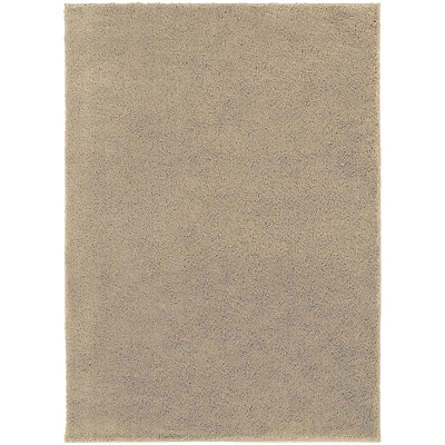 StyleHaven Contemporary Solid Shag Polypropylene 67 X 93 Beige Area Rug (WIMS337006X9L)
