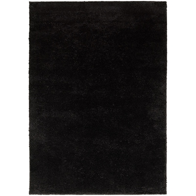 StyleHaven Contemporary Solid Shag Polypropylene 710 X 10 Black Area Rug (WIMS382008X10L)