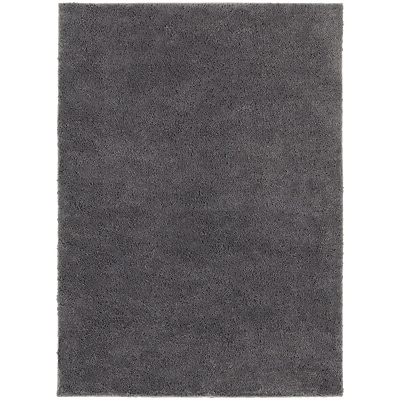 StyleHaven Contemporary Solid Shag Polypropylene 67 X 93 Grey Area Rug (WIMS830006X9L)