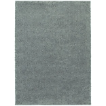 StyleHaven Contemporary Solid Shag Polypropylene 53 X 73 Blue Area Rug
