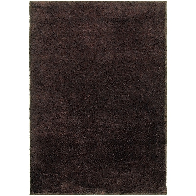 StyleHaven Contemporary Solid Shag Polypropylene 67 X 93 Brown Area Rug (WIMS845006X9L)