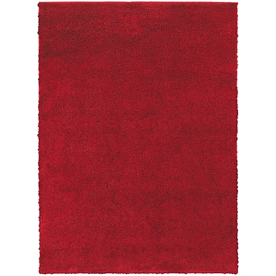 StyleHaven Contemporary Solid Shag Polypropylene 67 X 93 Red Area Rug (WIMS846006X9L)