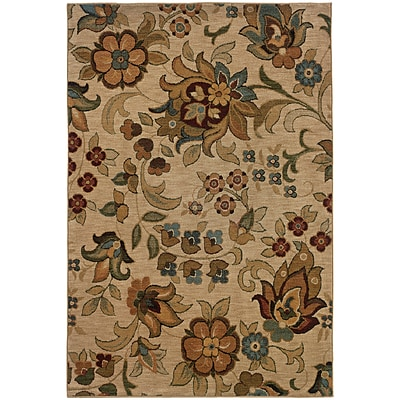 StyleHaven Transitional Floral Nylon 67 X 96 Beige/Green Area Rug (WINF1105A6X9L)