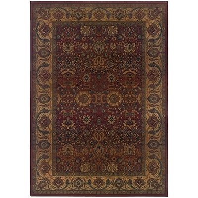 StyleHaven Traditional Polypropylene 4X 59 Red/Gold Area Rug (WKHA332C44X6L)