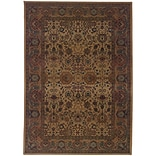 StyleHaven Polypropylene 53 X 76 Beige/Red Area Rug