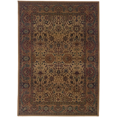 StyleHaven Traditional Polypropylene 710 X 11 Beige/Red Area Rug (WKHA332W48X11L)