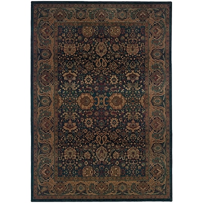 StyleHaven Traditional Polypropylene 53 X 76 Blue/Beige Area Rug (WKHA332X45X8L)