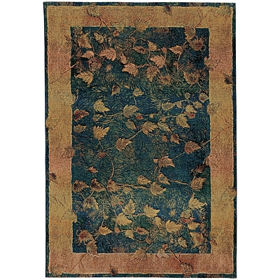 StyleHaven Transitional Border Polypropylene 67 X 91 Blue/Gold Area Rug (WKHA349B46X9L)