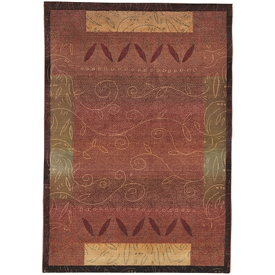 StyleHaven Transitional Vines Polypropylene 4X 59 Red/Gold Area Rug (WKHA439R44X6L)