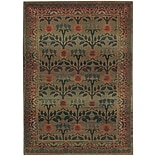 StyleHaven Floral Polypropylene 53 X 76 Green/Brown Area Rug