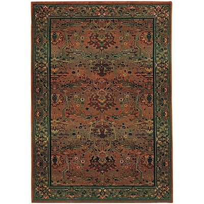 StyleHaven Traditional Polypropylene 67 X 91 Green/Beige Area Rug (WKHA465J46X9L)