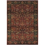 StyleHaven Polypropylene 53 X 76 Red/Green Area Rug