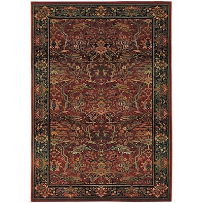StyleHaven Traditional Polypropylene 710 X 11 Red/Green Area Rug (WKHA465R48X11L)