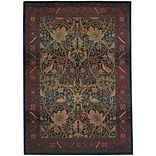 StyleHaven Traditional Floral Polypropylene 4X 59 Red/Blue Area Rug (WKHA470X44X6L)