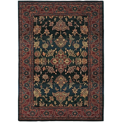 StyleHaven Traditional Polypropylene 4X 59 Blue/Red Area Rug (WKHA836F44X6L)