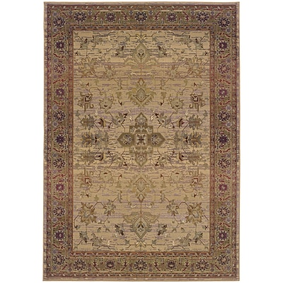 StyleHaven Traditional Polypropylene 710 X 11 Beige/Green Area Rug (WKHA836Y18X11L)