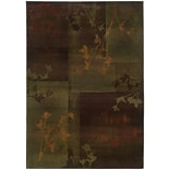 StyleHaven Floral Polypropylene 53 X 76 Purple/Green Area Rug