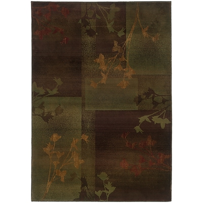 StyleHaven Transitional Floral Polypropylene 710 X 11 Purple/Green Area Rug (WKHR1048D8X11L)