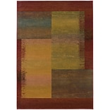 StyleHaven Contemporary Geometric Polypropylene 4X 59 Green/Red Area Rug (WKHR1092W4X6L)