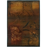 StyleHaven Botantical Impressions Polypropylene 53X76 Brown/Gold Area Rug