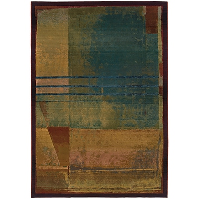 StyleHaven Contemporary Abstract Polypropylene 4X 59 Red/Green Area Rug (WKHR890X44X6L)