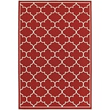 StyleHaven Outdoor Lattice Polypropylene 67 X 96 Red/Ivory Area Rug (WMEI1295R6X9L)