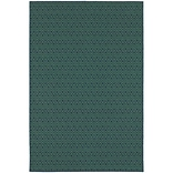 StyleHaven Outdoor Geometric Polypropylene 37 X 56 Navy/Green Area Rug