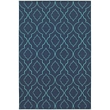 StyleHaven Outdoor Lattice Polypropylene 37 X 56 Navy/Blue Area Rug