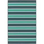 StyleHaven Outdoor Stripe Polypropylene 53 X 76 Blue/Green Area Rug