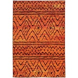 StyleHaven Contemporary Abstract Polypropylene 710 X 1010 Orange/Red Area Rug