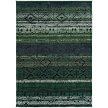 StyleHaven Contemporary Abstract Polypropylene 67 X 91 Green/Blue Area Rug