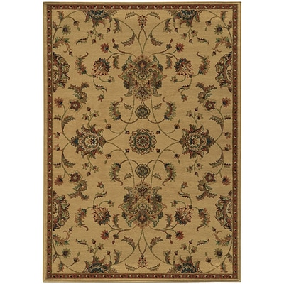 StyleHaven Transitional Floral Polypropylene 53 X 76 Beige/Green Area Rug (WPAK5835A5X8L)