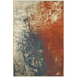 StyleHaven Contemporary Abstract Polypropylene 710 X 1010 Beige/Orange Area Rug