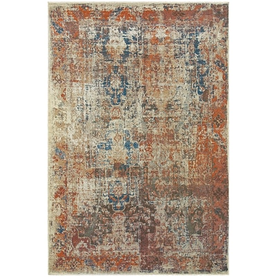 StyleHaven Contemporary Distressed Polypropylene 310 X 55 Beige/Multi Area Rug (WPSH521X64X6L)