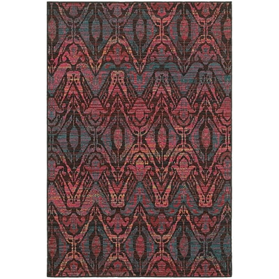 StyleHaven Transitional Overdyed Floral Polypropylene 67X96 Brown/Multi Area Rug (WREV5562F6X9L)