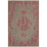 StyleHaven Traditional Overdyed Polypropylene 710 X 1010 Grey/Pink Area Rug (WREV6330F8X11L)
