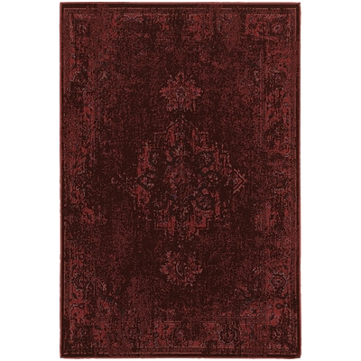 StyleHaven Traditional Overdyed Polypropylene 67 X 96 Red/Pink Area Rug (WREV6330M6X9L)