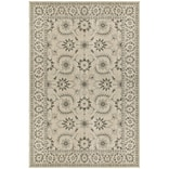 StyleHaven Floral Polypropylene 67 X 96 Ivory/Grey Area Rug