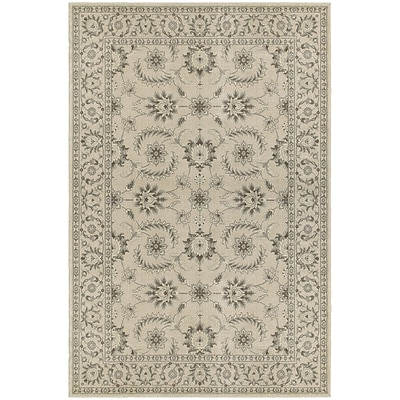 StyleHaven Traditional Floral Polypropylene 710 X 1010 Ivory/Grey Area Rug (WRIC114J38X11L)