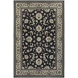 StyleHaven Bordered Polypropylene 67X96 Charcoal/Ivory Area Rug