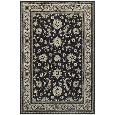 StyleHaven Bordered Polypropylene 67X96 Charcoal/Ivory Area Rug (WRIC117H36X9L)