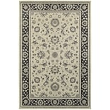 StyleHaven Bordered Polypropylene 53X76 Ivory/Navy Rug
