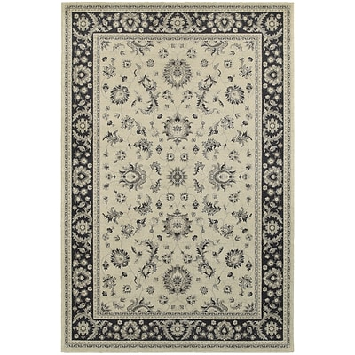 StyleHaven Traditional Bordered Traditional Polypropylene 67X96 Ivory/Navy Rug (WRIC117W36X9L)